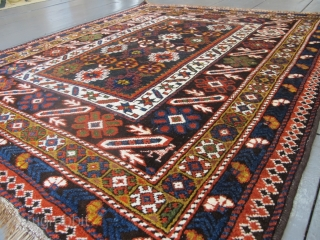 Chi-Chi rug late 19th century, 1.40m x 1.15m. All good dyes, excellent condition.