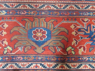 "Fine Sultanabad Carpet, 19th century, 3.85m x 2.90m (12'7"" x 9'6""), very attractive colours and crisply drawn design. Thin pile and fine quality. Very good condition. Just added to my website www.aaronnejad.com"
