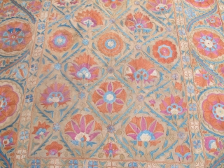 """Fine Bokhara Nim-Suzani, circa 1850, 1.62m x 1.18m (5'3"""" x 3'10""""), beautifully drawn and in very good condition, lined."""