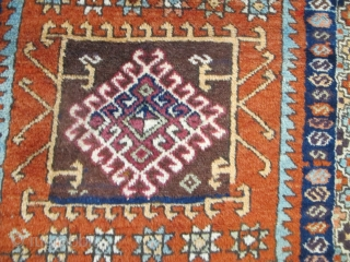 "Antique East Anatolian Rug, 2.80m x 1.16m (9'2"" x 3'10""), wonderful wool and dyes. Great design, lots of archaic ornaments. Very good condition."
