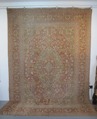 "Pale and Decorative Tabriz Carpet, circa 1900, 3.45m x 2.42m (11'3"" x 8')"