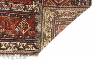 """Antique Khamseh or Qashqai rug, early 20Th century. 258 x 167cm (101,5"""" x 66"""").  A piece with excellent quality of velvety wool, with varied and saturated dyes dominated by an opulent hue of  ..."""
