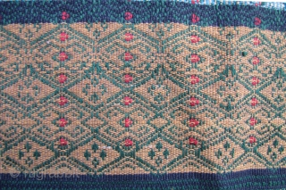 Akha Blanket: Lao blanket, acquired in the Northern most province of Phongsaly, 2002, from a small local market. I was told it was Akha but am really not sure as I have  ...