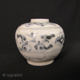 Vietnamese Blue and White Porcelain Jar