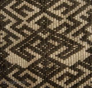 Li Blanket, Hainan Island, China: Fine intricate four paneled handwoven bed cover made with handspun natural local indigo dyed cotton from the Ha/Meifu dialect speaking Li people, Hainan Island. The black color  ...