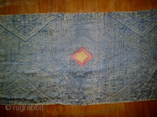 Old Lao Silk Scarf- Lao Pha Chet: Beautiful old classic Lao shoulder clothe, all natural dyes with hand spun silk threads. I picked this up on my first trip to Laos in  ...