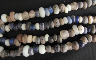 Ming Dynasty Glass Beads: Strand of Yuan/Ming Dynasty glass trade beads excavated from the Tak Hilltop burial site along the Thai Burmese border. These are datable to the 14th to 16th CE,  ...