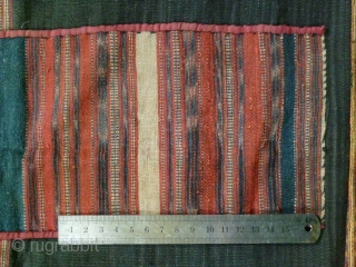 Ba Na Apron skirt: Beautiful women's skirt from the Bahnar (Ba Na) ethnic group from the Central Highlands of Vietnam, woven from fine handspun cotton using all natural dyes. The weaving is  ...