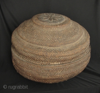 Sri Lanka Baskets: Group of three household woven cane baskets acquired in Kandy, Sri Lanka in the 1990s. These were old at the time of acquisition so I would date them to  ...