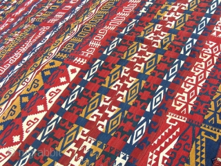 UZBEK COVER, MAGNIFICIANT COLOURS AND STRIKING DESIGNS, VERY TRIBAL AND IN GREAT CONDITION, CA 200 X 290 CM,