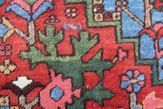 FINE HERIZ CARPET, CA. 2 X 3M HIGHLY SATURATET NATURAL COLOURS HIGH PILE AND GOOD CONDITION SHIPPING WORLDWIDE
