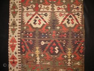 Central Anatolian kilim fragment 81x245 cm