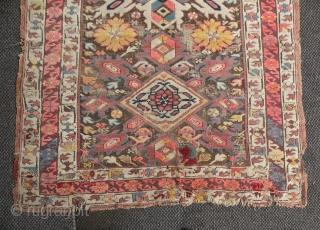 Antique Caucasian Kuba rug,250x121 cm
