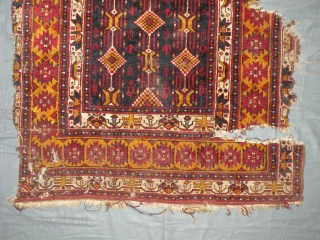 Antique baluch rug fragment, 104x200 cm