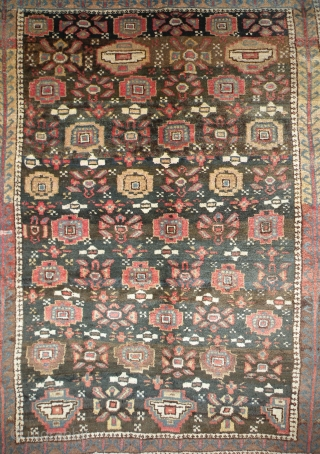 Old Kurdish Tribal rug, 130 x 133 cm