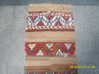 Antique Anatolian Fragment Kilim size: 225x65