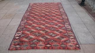 Antique Türkmenistan Yamout Carpet Size 280x165