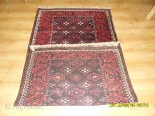 Antique Türkmen Baluch Carpet size: 202x113