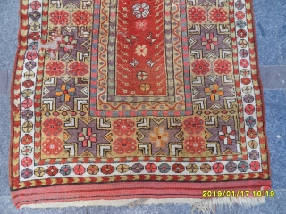 Antique Anatolian Milas Carpet size: 145x100