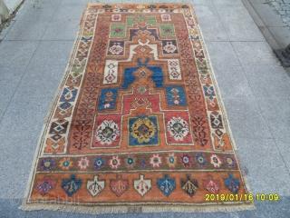 Antique Anatolian Merdivenli Prayer Karapınar Carpet size: 245x135