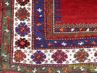 Antique Caucasian Taliç Kazak Carpet size: 250x150