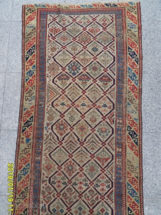 Antique Caucasian Shirvan Carpet Size: 250x85