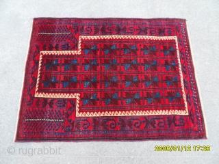 Antique Türkmen Prayer Beluch Carpet size: 116x90 cm.