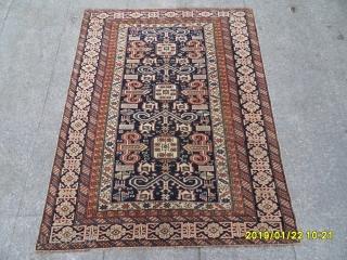 Antique Shirvan Perepedil Carpet perfect size: 150x115