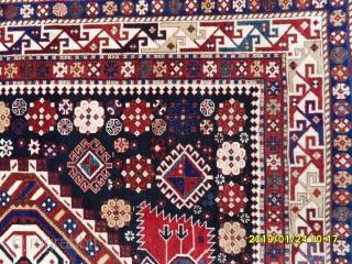 Antique Caucasian Shirvan Şahnazar Carpet Perfect size: 282x152