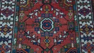 Antique Persian Runner Carpet Size 412x105