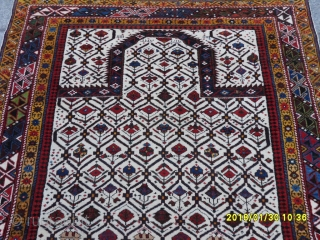 Antique Caucasia Shirvan Marashali Prayer Carpet Full Conditions Perfect size: 192x130