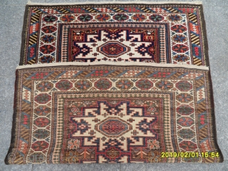 Antique Lezgi Shirvan Carpet perfect size: 130x100