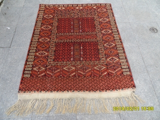 Antique Türkmen Ensi Prayer Carpet size: 145x120