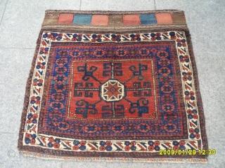 Antıque Turkmen Baluch Bagface size: 77x60 cm.