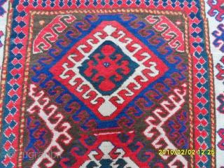 Antıque Borjhalu Kazak Carpet size: 250x137