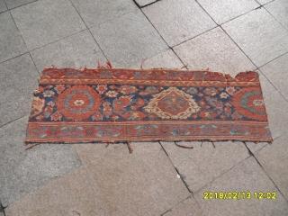 Antique 18.century Ushak Fragment size: 135x45
