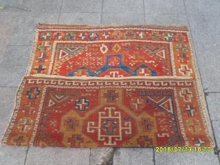 Antique Anatolian Cappadocia Carpet Perfect Very Nice Piece. size: 155x138