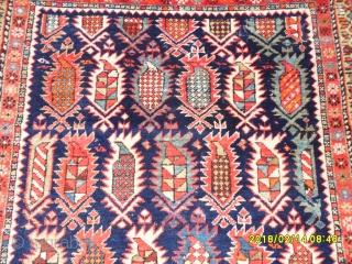 Antique Caucasian Shirvan Carpet size: 200x113