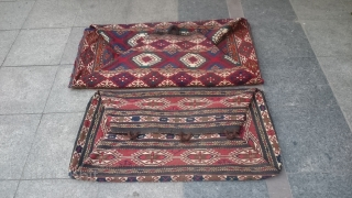 Antique Complet Mafrash two piece one big one small very nice piece Great Colors.