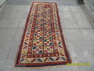 Antique caucasia Gence Carpet size: 245x105