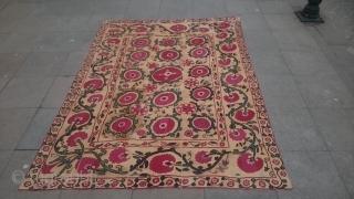 Antique Türkmenistan Textile Suzani size 215x155