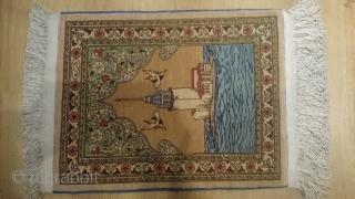 Anatolian Carpet Silk Hereke size 43x34