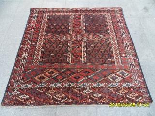 Antique Türkmen Ensi Carpet perfect size: 158x156