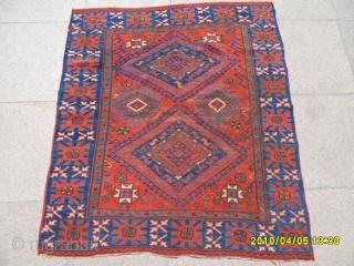 Antıque Anatolian Bergama Carpet size: 110x100 cm.