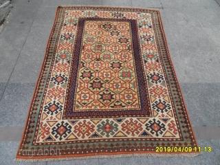 Antique Caucasian Gence Carpet size: 182x130 cm.