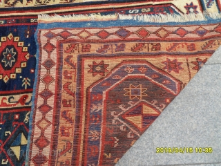 Antique Anatolian Makri Carpet size: 195x135
