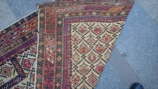 Antique Shirvan Marashali Carpet Prayer size 156x117