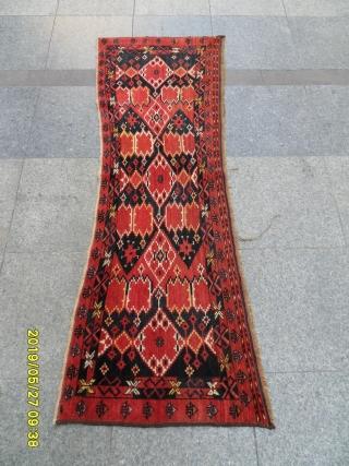 Antique Türkmen Beşir ersari torba very nice piece perfect natural colors Size 170x60