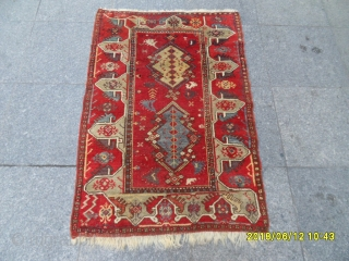 Antique Anatolian Small Ada Milas Carept size: 115x80