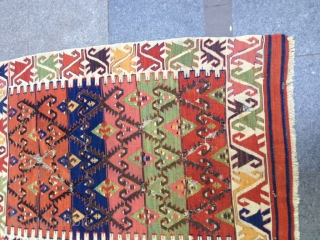Antique Anatolian Cappadocia Kilim Great Colors Size 140x90